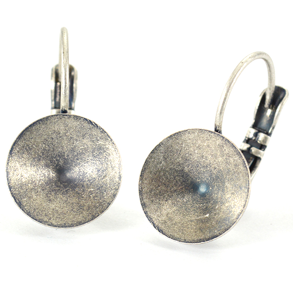 12mm Drop rivoli earrings base