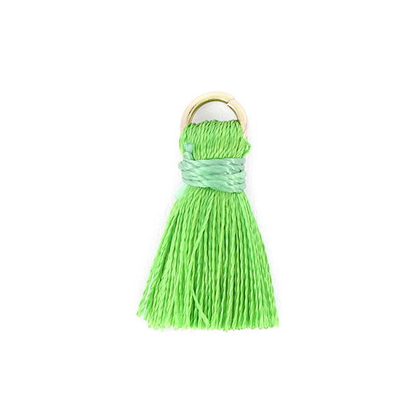 20mm Thread Tassel for jewelry making Green color - 4pcs pack