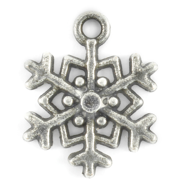 Snowflake pendant with top loop-2pcs pack