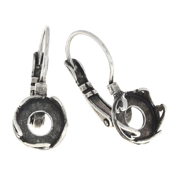 77676bcff3f98 8mm Rivoli leverback earring base with heart design