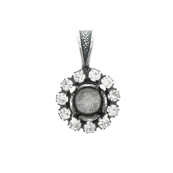 29ss stone setting with SW Rhinestones  Pendant base with bail