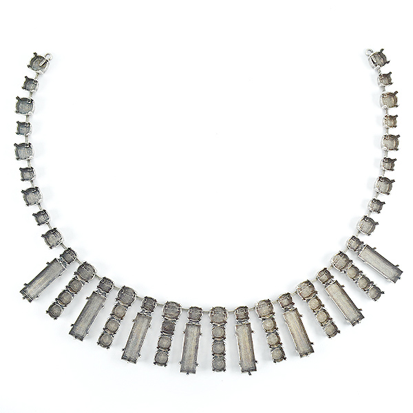 Baguette 21X7,29ss and 39ss Necklace base - 33 setting
