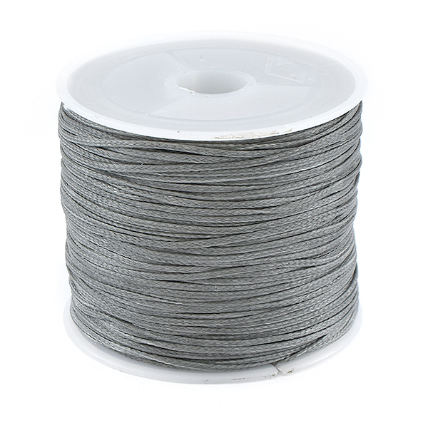 1 Roll Waxed Polyester Cord for Beading Grey color