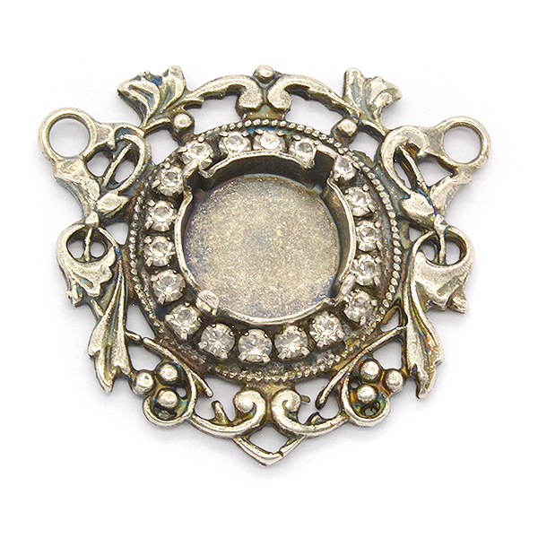 Rivoli 12mm Vintage Pendant base with rhinestones