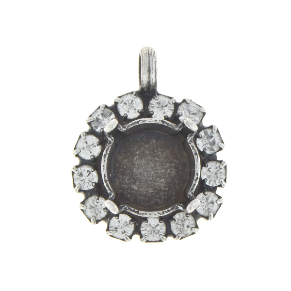 10 PCS - 39ss Stone setting with SW rhinestone and top loop