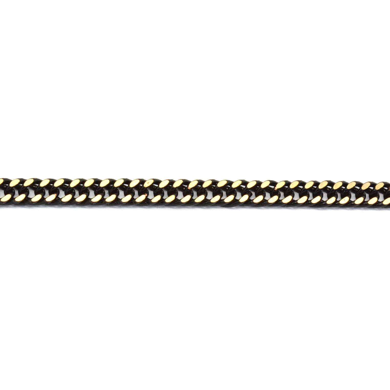 Flat 4.2mm Black with Gold touch Gourmet Chain