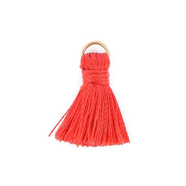 20mm Thread Tassels for jewelry making Red color - 4pcs pack