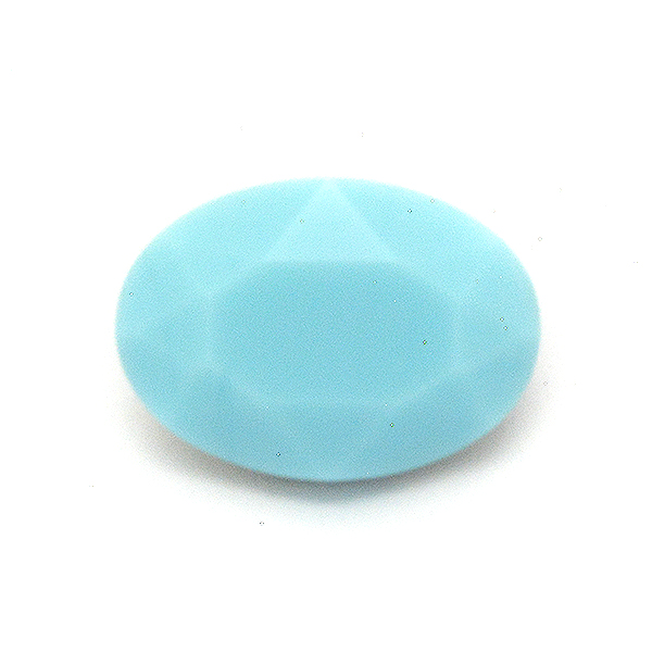 Light Turqouise Glass Stone for Oval 10X14mm setting-2pcs pack