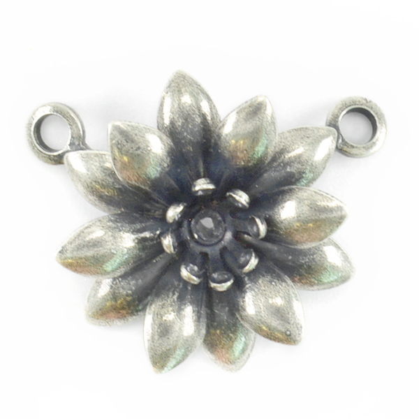 24ss Flower Pendant base with Two side loops