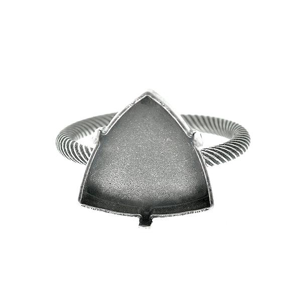 d26737685 NEW. 14x14.3mm Kaleidoscope Triangle FS Stone Setting Adjustable ring base
