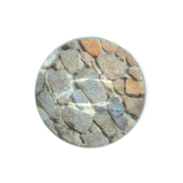 Stones printed Cabochon 14mm Flat back-5pcs pack