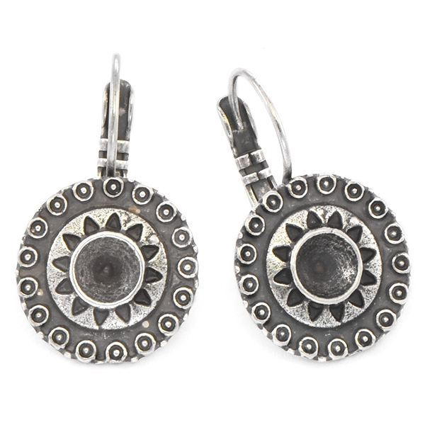 24ss Round Ethnic Leverback Earring base