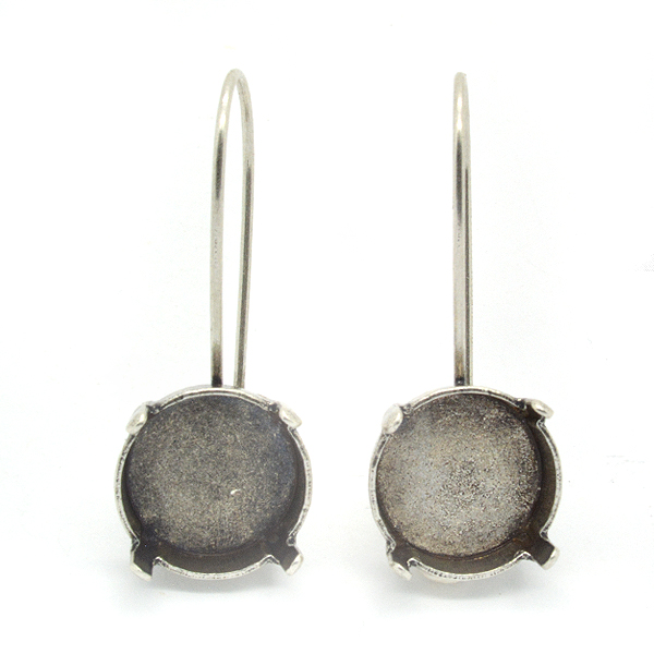 Rivoli 12mm hanging earring base