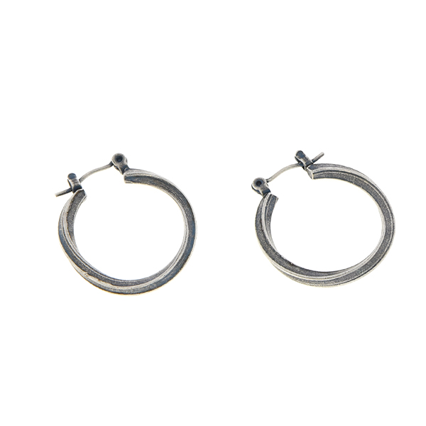 Metal hoop earring base (22mm)