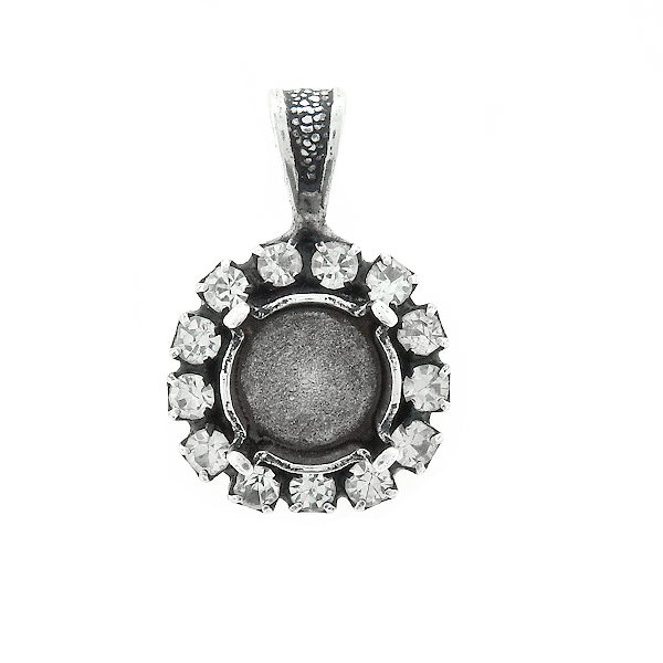 39ss stone setting with SW Rhinestones  Pendant base with bail