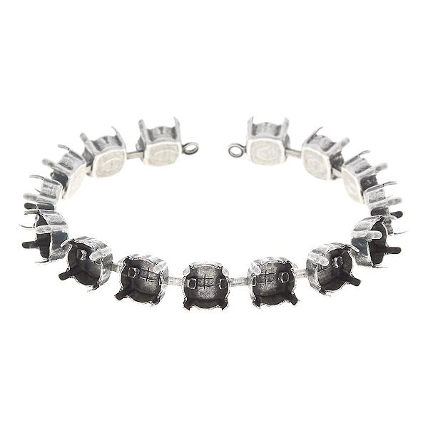 39ss Cup chain bracelet base with soldered loops - 15 settings