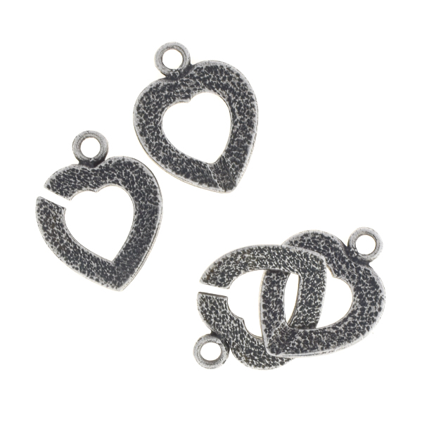 Heart shaped interlocking clasp for jewelry making
