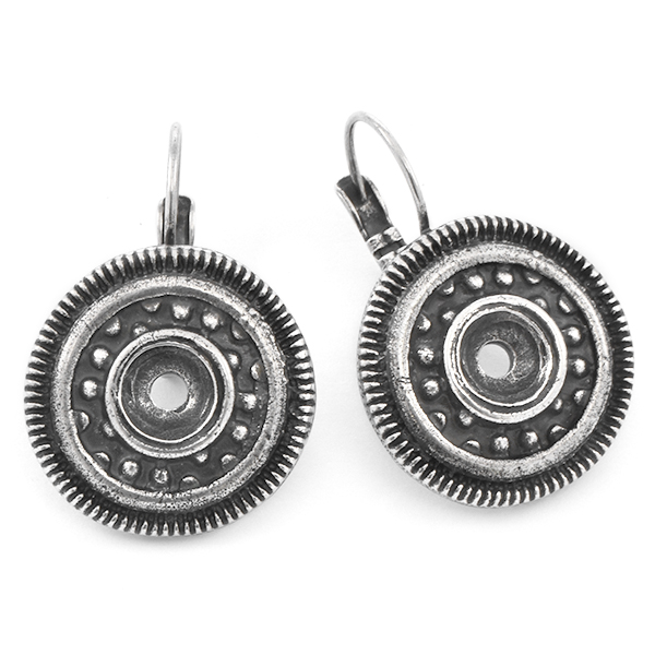29ss Round Ethnic Leverback Earring base