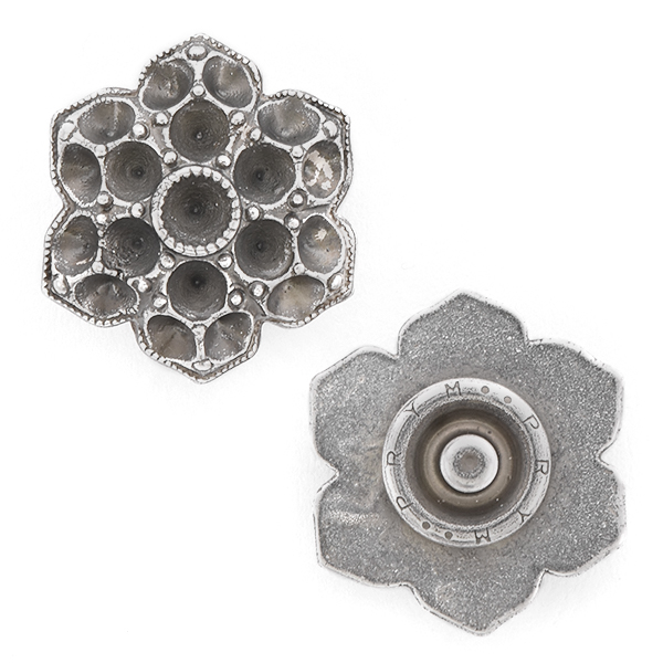 32pp, 24pp Flower Snap Button Jewelry