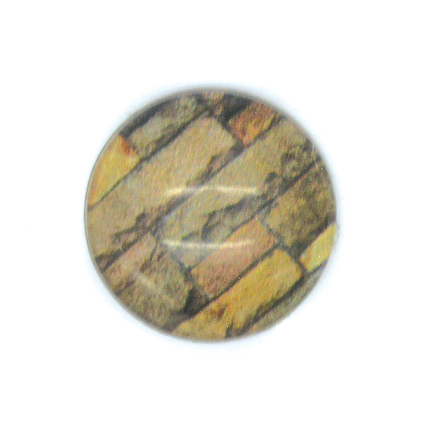 Wood printed Cabochon 14mm Flat back-5pcs pack