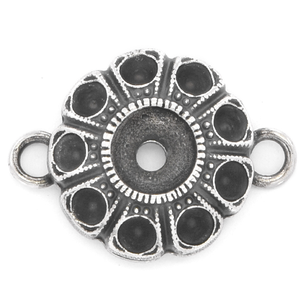 24pp, 29ss Flower jewelry connector with two loops