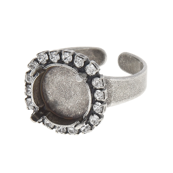 12mm Rivoli Ring base with SW rhinestone