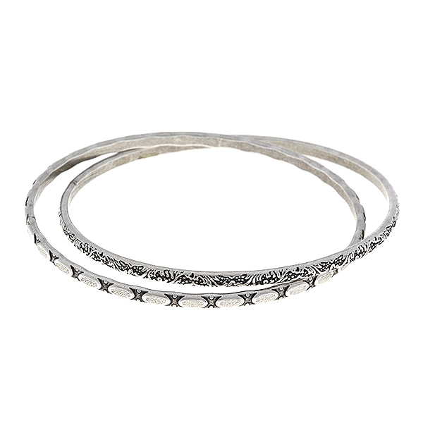Double hoop bangle bracelet base