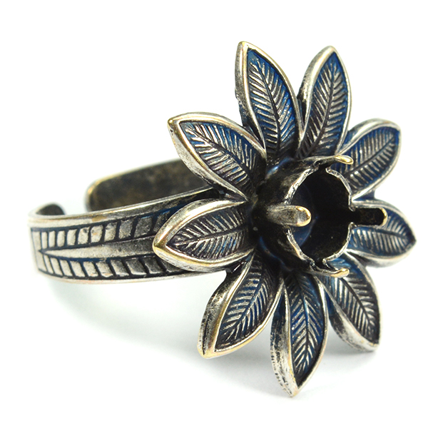29ss Ring base with flower element