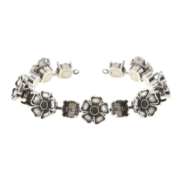 24pp, 39ss Cup chain bracelet with metal flowers