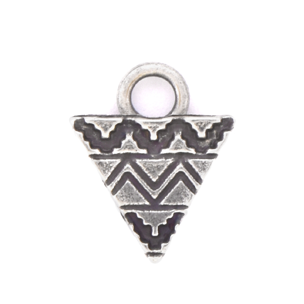 Aztec Triangle shaped Charm with top loop - 2 pcs pack