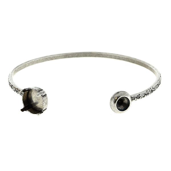 76ca570a1c5 29ss and 12mm Rivoli stone settings on Open Bangle Bracelet base ...