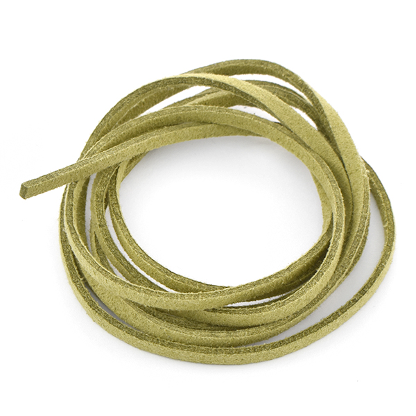 3mm Faux Suede Leather Cord Hunter Green color - 1 Meter