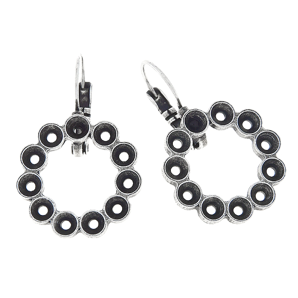 32pp, Hollow circle Leverback Earring  bases