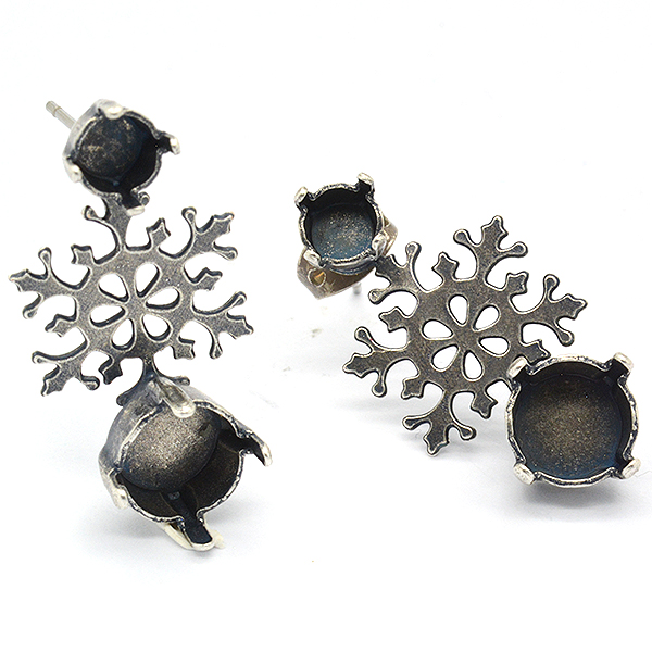 24ss and 39ss Snowflake stud earring base