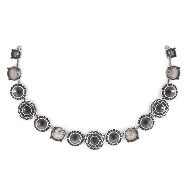 8pp, 29ss, 39ss, 12mm Rivoli Centerpiece for Necklace - 15 settings