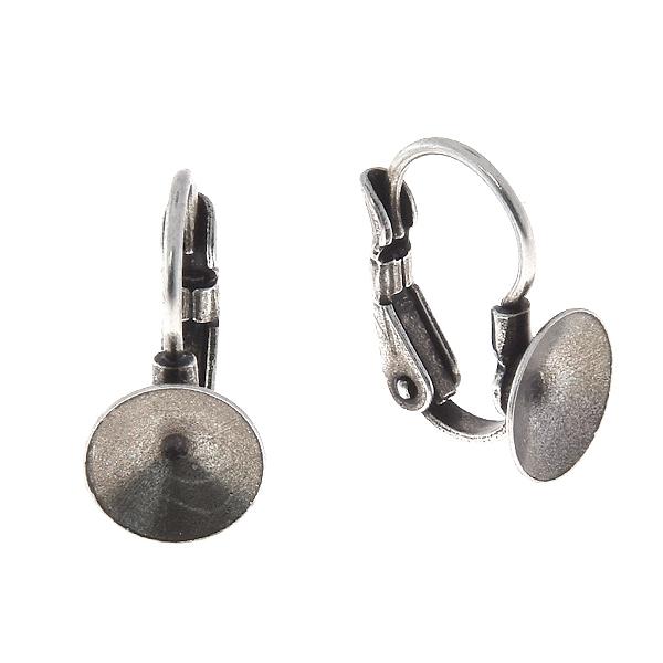 d293434e62445 8mm Rivoli Round metal casting Leverback Earring bases