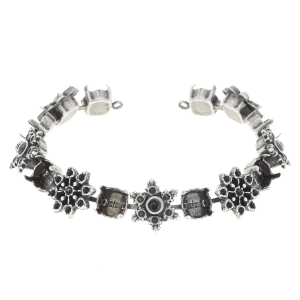 14pp, 24pp, 39ss Cup chain bracelet base with Snowflakes