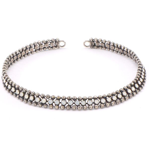 2mm ball chain and rhinestone Ankle Bracelet