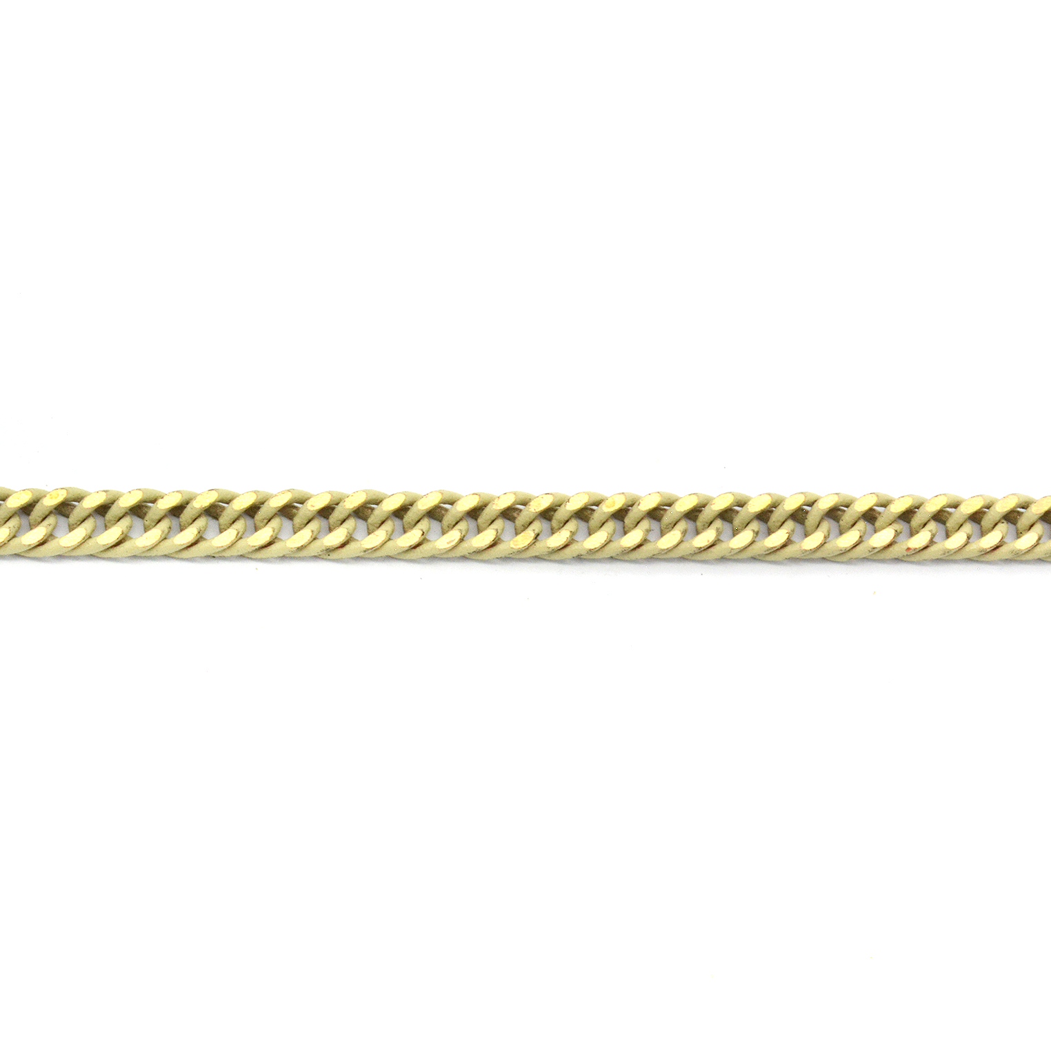 Flat 4mm Cream with Gold touch Gourmet Chain