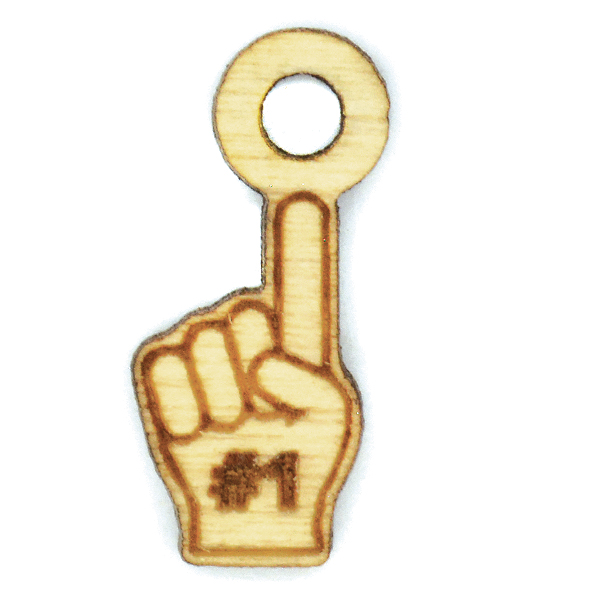 Foam finger wooden charms-5pcs pack