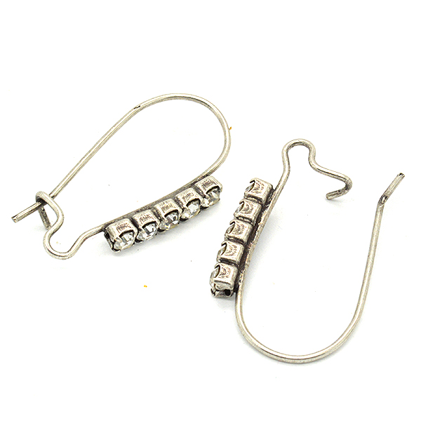 Rhinestone earrings hooks price for 1 pair