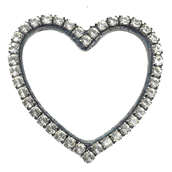 SW Rhinestones Hollow Heart Set