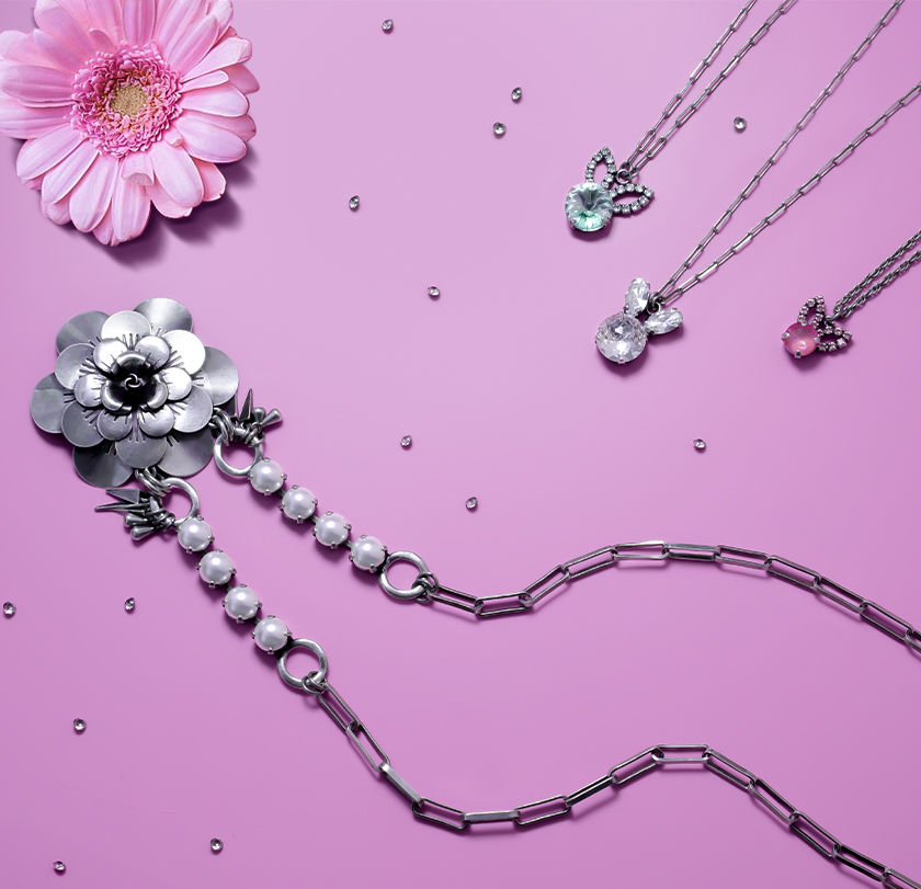 New Volume Flower Jewelry Set Inspiration