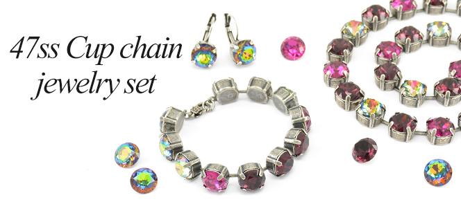 47ss Cup chain multicolor jewelry set