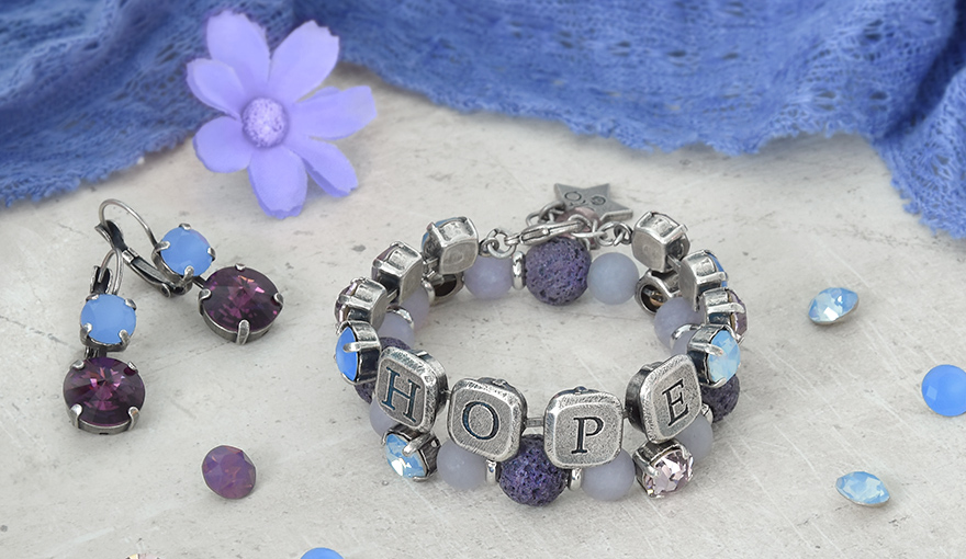 Beads and SW crystals bracelet step by step tutorial