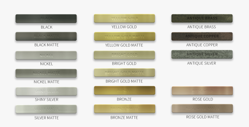 PLATINGS - WHAT IS YOUR FAVORIT COLOR?