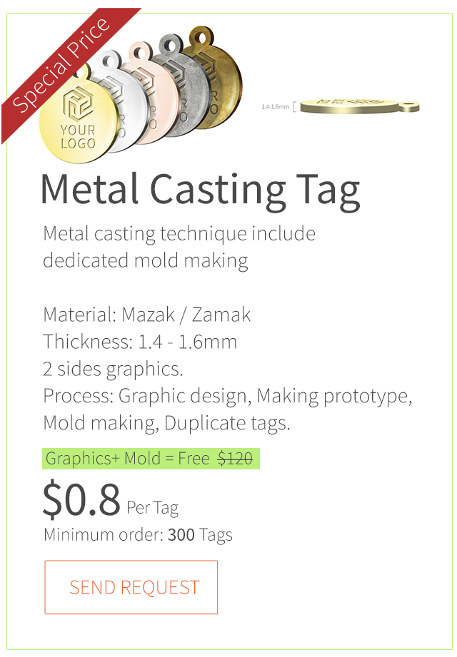 Create your branded metal logo tag